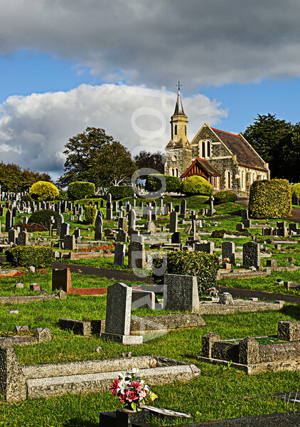 A traditional church cemetry