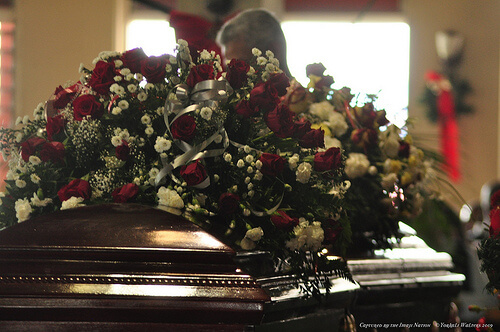 Funeral Service for Vin and Lena Brown.
