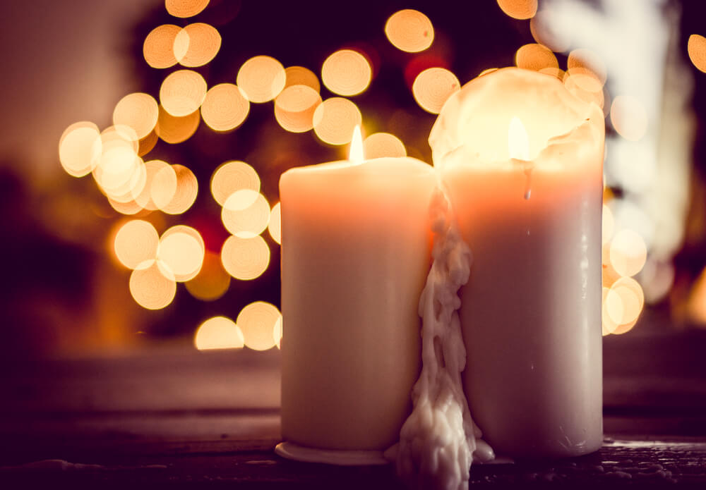 Candles at a funeral